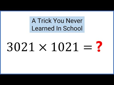 LEARN THE EASY WAY: Solve 3,012 X 1,021 (Fast Math). Slide Method Multiplication