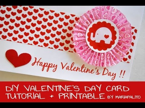 Elephant Valentines Day Card How to make a ValentineMake a Card – Elephant Valentines Card