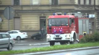 Wielka woda w Bielsku-Białej 15-16.05.2014 - straż pożarna rusza na pomoc.