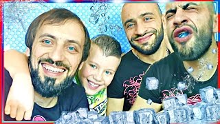 💦 ICE CHUBBY BUNNY CHALLENGE By children and Dad 📛 MEGA Marshmallow Stuffing Contest! ЧЕЛЕНДЖ Russia