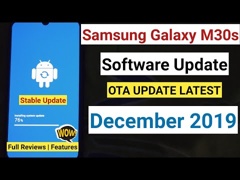 Samsung Galaxy M30S Software Update December 2019 Reviews   Samsung Galaxy M30s Update Size 319.46MB