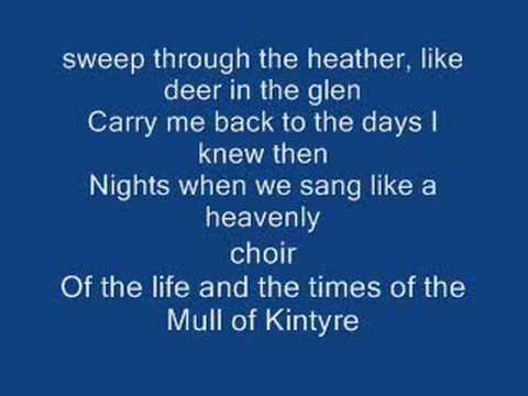 The mull of kintyre & Lyrics-Paul Mccartney