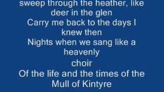 The mull of kintyre & Lyrics-Paul Mccartney
