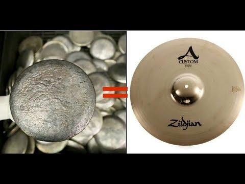 Proses pembuatan cymbal drum (Zildjian Cymbals)