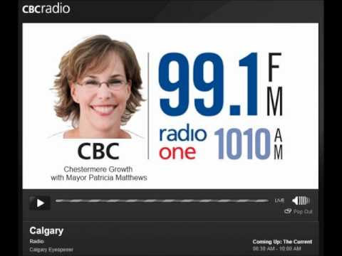 Chestermere Growth & Sustainability with Mayor Patricia Matthews on CBC Radio1 Calgary Eye Openner