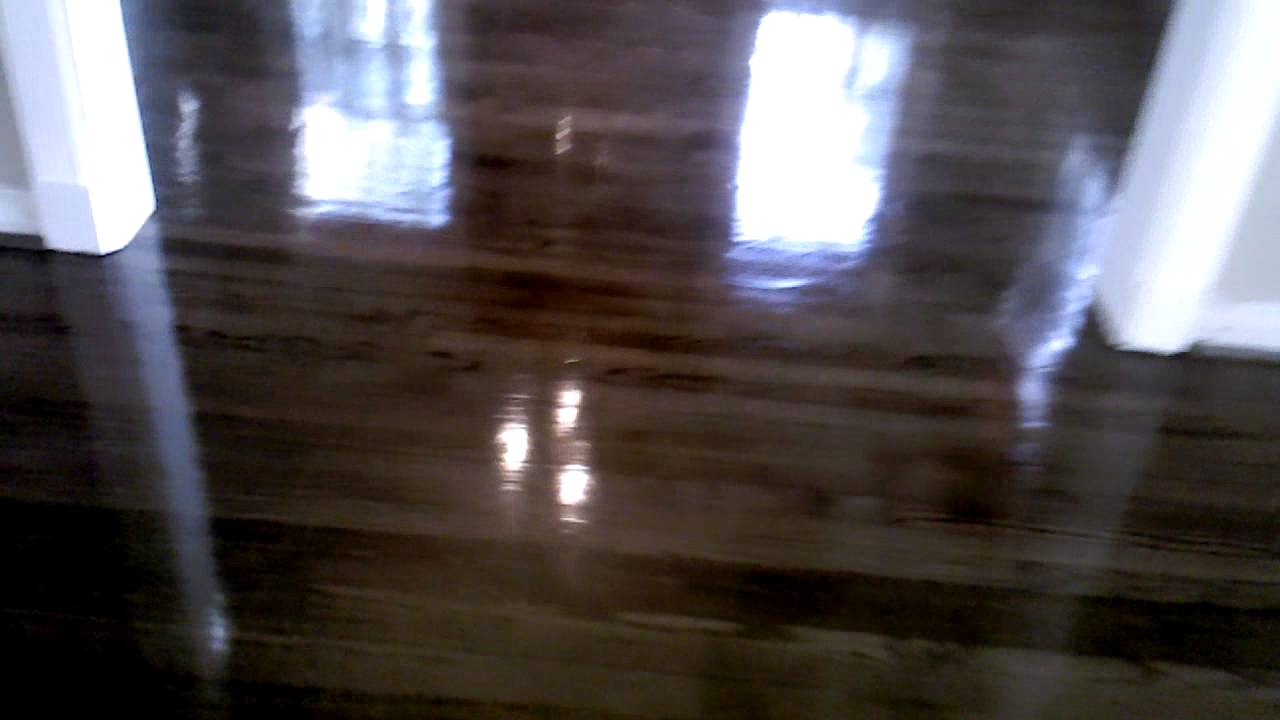 Hardwood Red Oak High Gloss Youtube