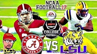 NCAA Football 17 | (#1) ALABAMA vs (#13) LSU | ESPN Sat Night Football!