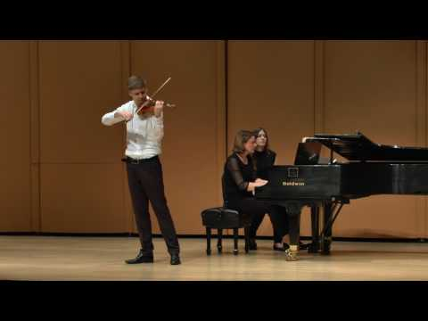 Christopher Tun Anderson at The Elmar Oliveira International Violin Competition