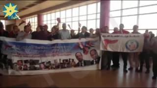 بالفيديو: وفد شركة ميناء القاهرة لدى وصوله إلى شرم الشيخ ولافتة لضحايا إرهاب باريس والطائرة الروسية