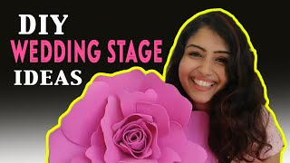 Diy   How Did I Decorate My Indian Wedding Stage At Low Cost!!!
