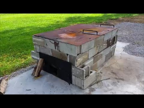 cinder block smoker youtube