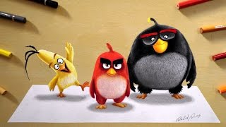 3D Drawing: Angry Birds