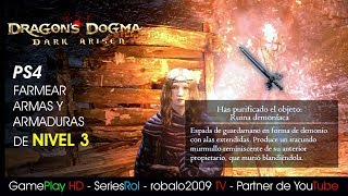 Dragon Dogma NG PLUS PS4 BITTERBLACK Farmear armas y armaduras   SeriesRol