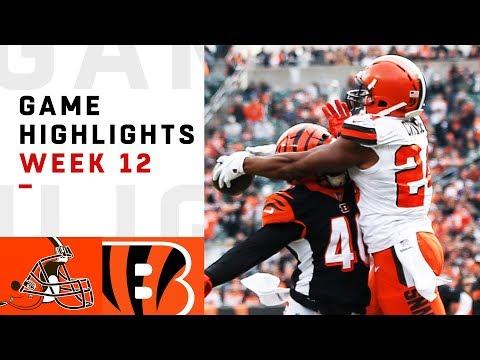 Browns vs. Bengals Week 12 Highlights   NFL 2018