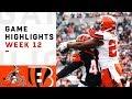 Browns vs. Bengals Week 12 Highlights | NFL 2018