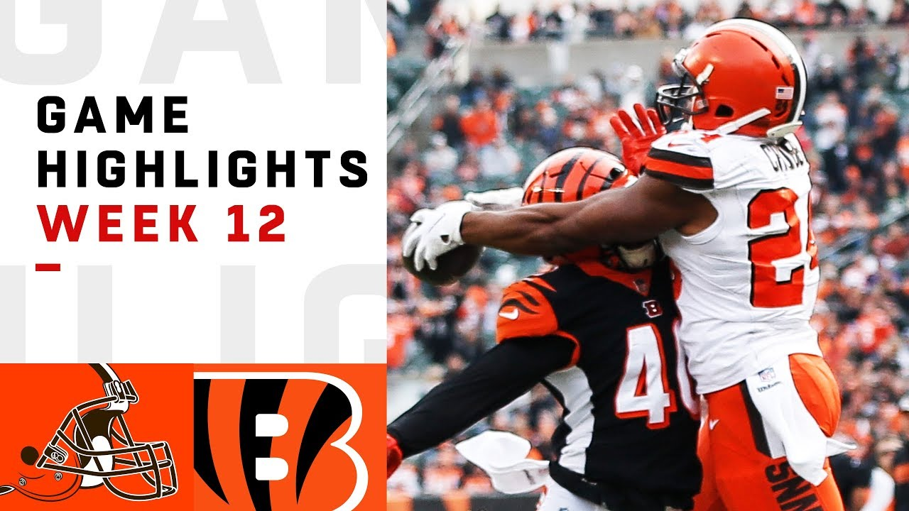 6a676b81 Browns vs. Bengals Week 12 Highlights | NFL 2018 - YouTube
