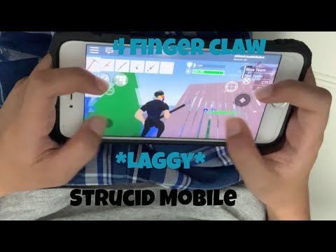 Playing Strucid Mobile On an IPhone! *LAGGY*