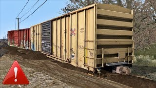 Freight car out of control and Derailment