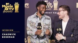 Chadwick Boseman Reacts to Award Wins & Tiffany Haddish's Monologue | 2018 MTV Movie & TV Awards