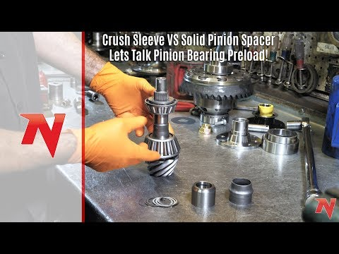 """GM 8.2/"""" CHEVY 10 BOLT SPACER KIT CRUSH SLEEVE ELIMINATOR SOLID PINION PRELOAD"""