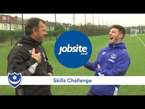 Robbie Blake vs Conor Chaplin - Portsmouth FC: Jobsite Skills Challenge