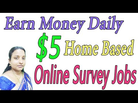 Earn Money Daily $5 | New Home Based Online Survey Jobs in Tamil
