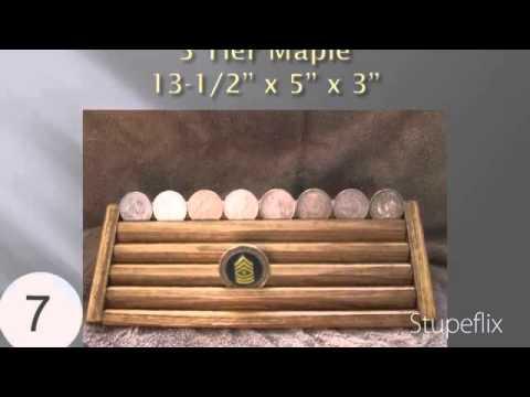 Challenge/Coin/Chips Stadium Wood Display Holder 5 Tier