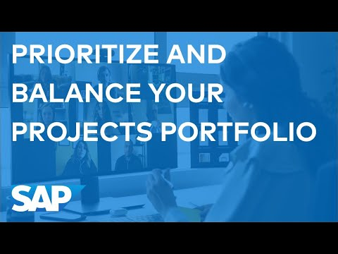 SAP PPM : Prioritize and balance your projects portfolio