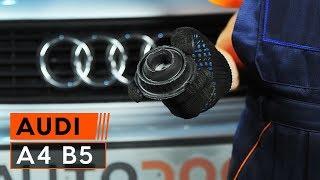 Come sostituire Cuscinetto ammortizzatore AUDI A4 Avant (8D5, B5) - video gratuito online