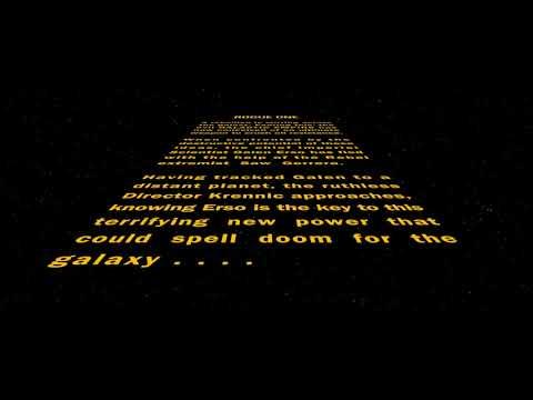 Star Wars - Rogue One: Where Rebels Dare (Fanedit) Opening Crawl