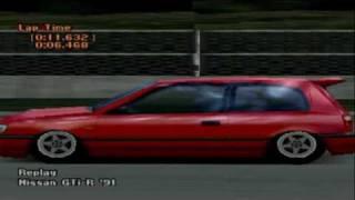 Gran Turismo 2 Nissan GTI-R 91 1/4 mile 11.632
