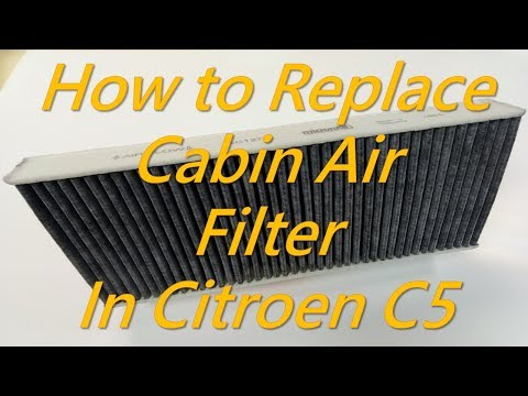 Citroen C5  - How to Replace Cabin Air Filter in Citroen C5 Dust Pollen Filter AC Filter Replacement