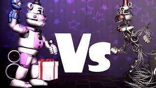 FNAF SFM Funtime Freddy vs Molten Freddy FNAFSL vs FNAF 6 50K sub special