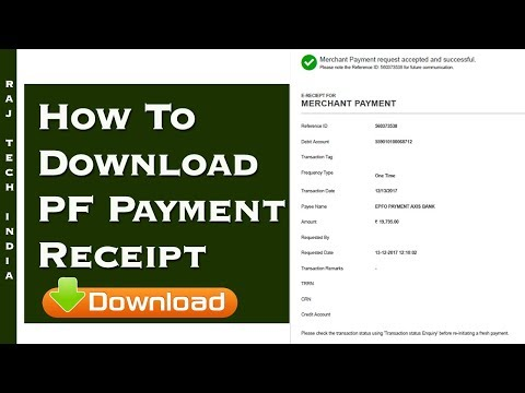 How To Download PF Payment Receipt