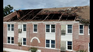 Kathleen Middle School suffers tornado damage during Tropical Storm Nestor