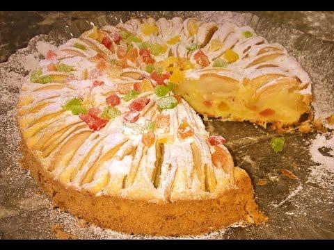 Творожно яблочный пирог Нежность Выпечка сладкая