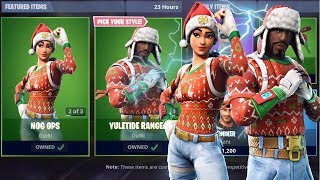 """NOG OPS"" - ""YULETIDE"" RANGER SKINS IN FORTNITE! - ITEM SHOP SKINS UPDATE! (Fortnite Live)"