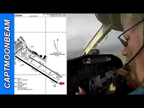Cessna Citation Landing St Louis Downtown, ATC Audio