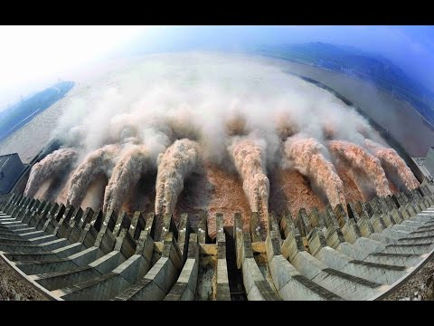 AMAZING Emergency water discharge from the dam | Biggest dams in the world ✔P1