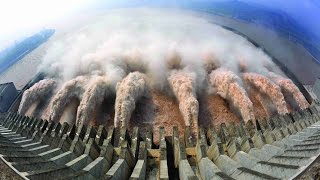 amazing emergency water discharge from the dam   biggest dams in the world p1