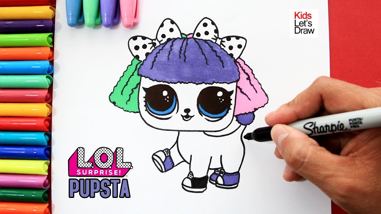 Cómo Dibujar A Pupsta Mascotas Lol Surprise Serie 3 How To Draw Pupsta Lol Surprise Pets