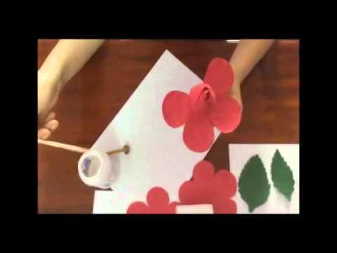 Hướng dẫn làm hoa hồng bằng giấy cực đẹp mà dễ làm