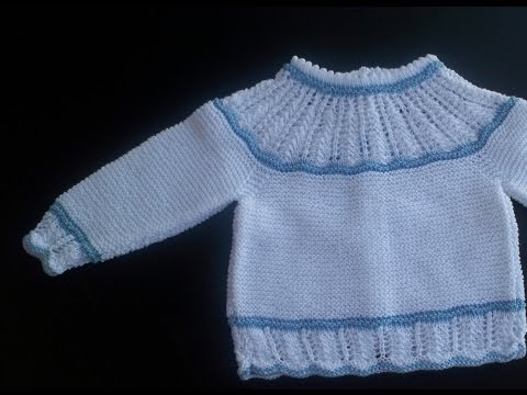 5fe7186194438 COMO HACER JERSEYS DE BEBE - YouTube