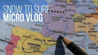 Snow to Surf in 3 hrs | Andorra to Spain to France
