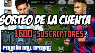 SORTEO DE LOS 1500 SUSCRIPTORES - BALL OPENING - PES 2018 MOBILE  - sica gamer