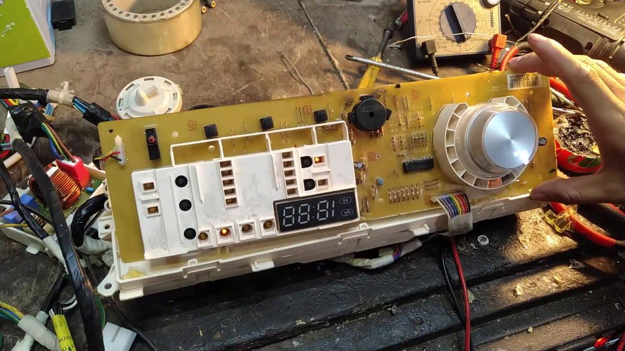 Máy giặt LG inverter cửa ngang lỗi role kêu lạch cạch , đèn bàn phím chớp chớp