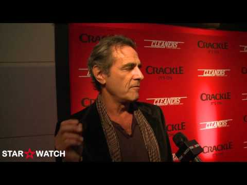 "Robin Thomas red carpet interview at ""Cleaners"" host screening event"