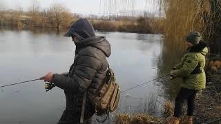 Рыбалка на форель на озере У плакучей ивы 10 02 2020г