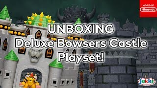 UNBOXING! Deluxe Bowsers Castle Playset from Jakks Pacific! Full Build & Review!