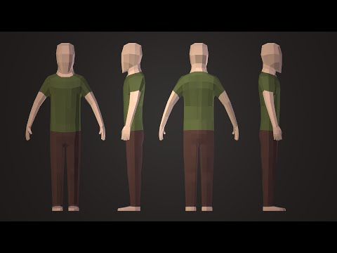 Pigart Blender Tutorial Low Poly Character Youtube